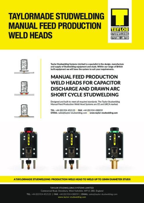 manual feed weld heads