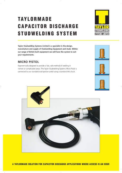 Taylor Studwelding Micro Pistol Brochure